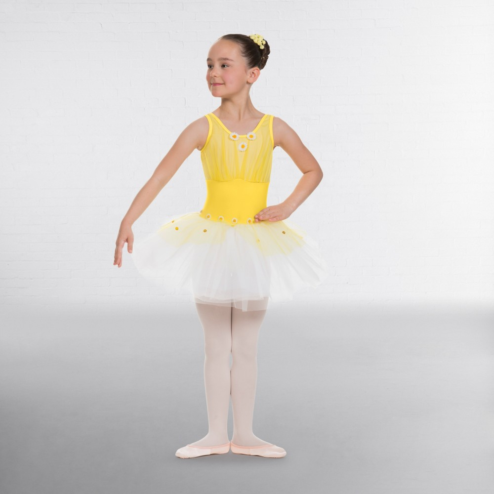 2f84e285d945 1st Position Childrens Yellow Ruched Bodice Daisy Tutu