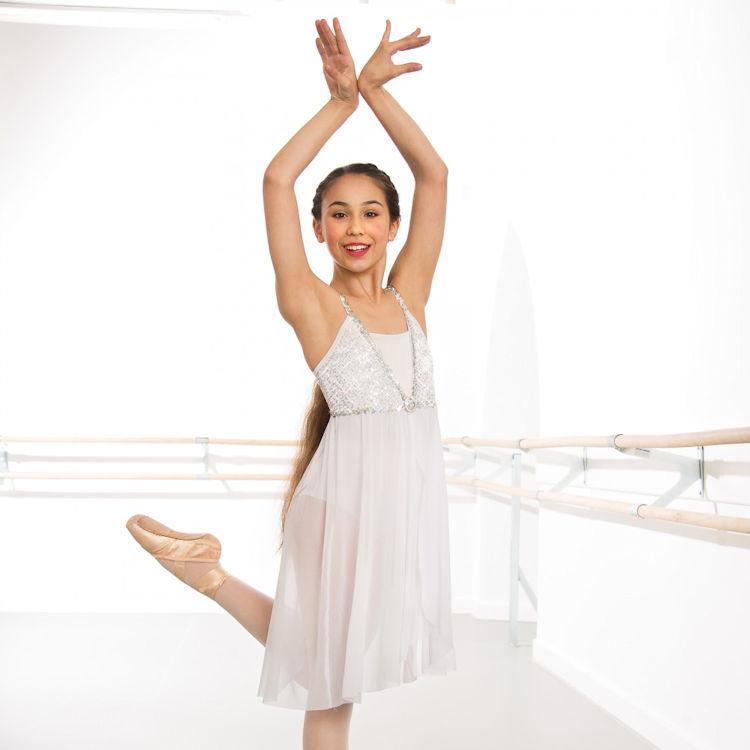 df80408ea6f35 Childrens 1st Position Sequin Lyrical Dress | The Dancers Shop Uk