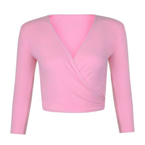 Tappers and Pointers Ballet Dance CrossOver Wrap Top Cardigan Cotton Lycra Pink