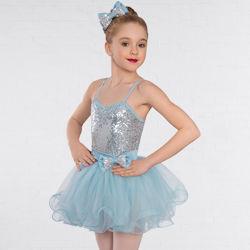 8235e04387b8 Childrens Blue Candy Floss Sequin Glitz Dance Dress