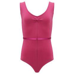 7837ebcec053 Buy sleeveless girls gymnastics leotard with diamante in blackberry ...