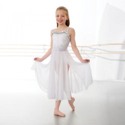 1st Position Long Sequin Childrens Lyrical Dress
