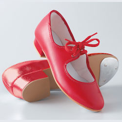 Tappers & Pointers Childrens Red Tap Shoes Sizes 1½ to 5½