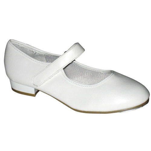 18143825b3533 Childrens white tap shoes with velcro fastening
