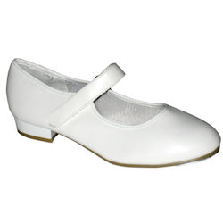 Tappers & Pointers Childrens Velcro Tap Shoes - White