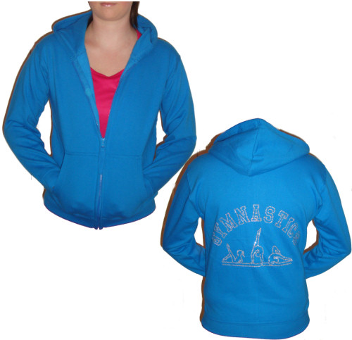 Adults Zip Front Personalised Dance Hoodie The Dancers Shop