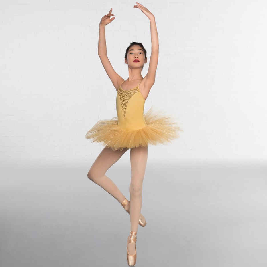 c1b5947e7009f 1st Position Sequin Glitter Gold Classical Ballet Tutu   The Dancers ...