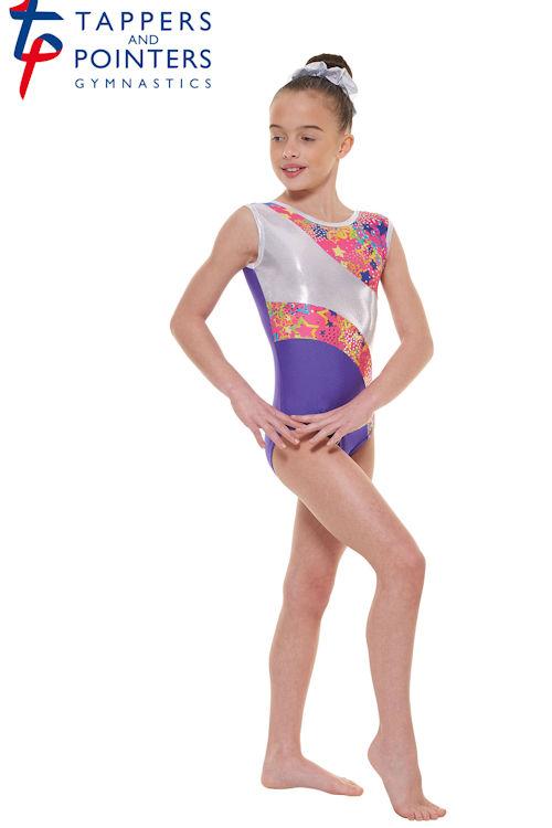... Childrens Sleeveless Gymnastics Leotard in fluorescent Purple /Pink  sc 1 st  The Dancers Shop & Tappers and Pointers Childrens Sleeveless Gymnastics Leotard GYM/39 ...