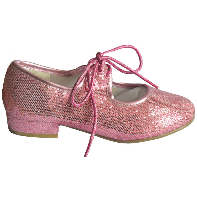 New Childrens Pink Glitter Tap Shoes | The Dancers Shop UP