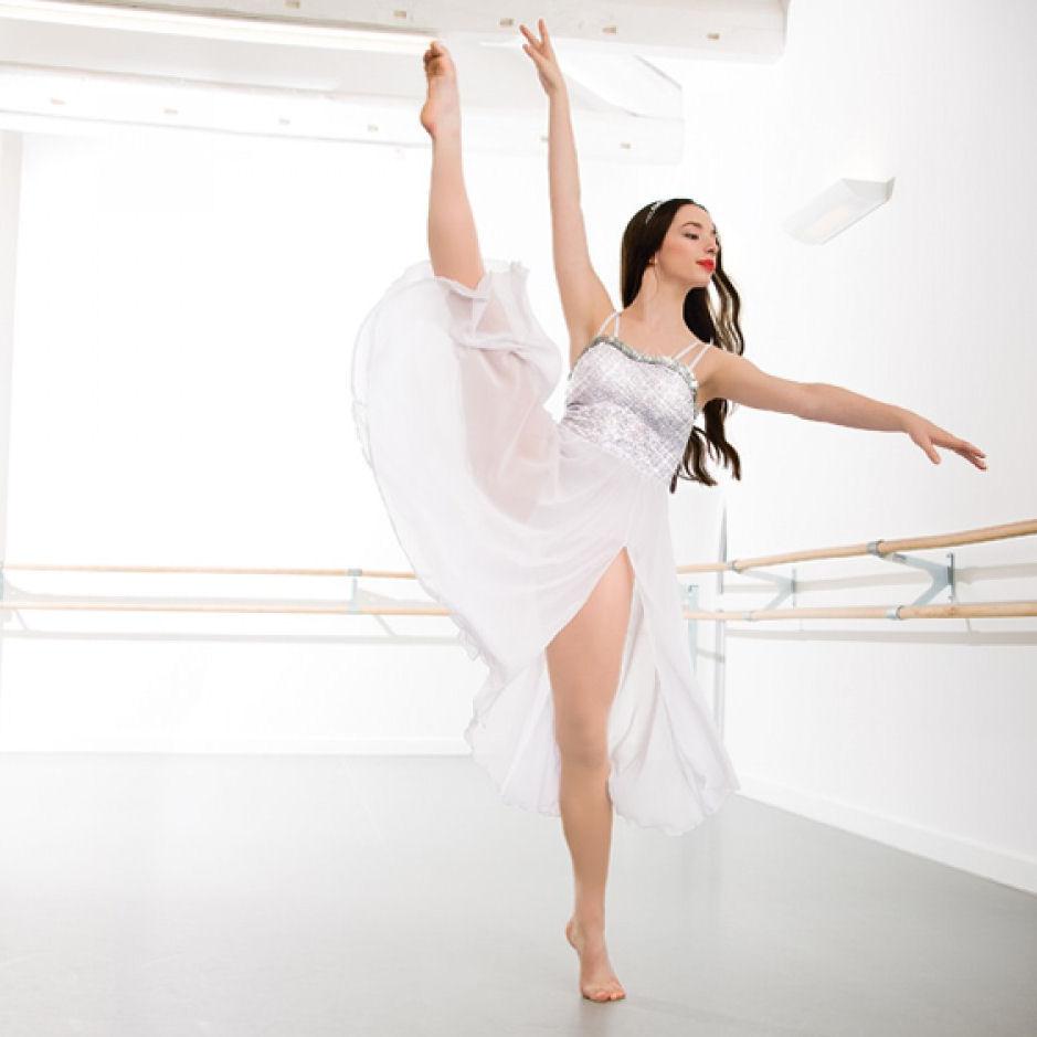 be179d48fbbbc Childrens 1st Position Long Sequin Lyrical Dress | The Dancers Shop Uk