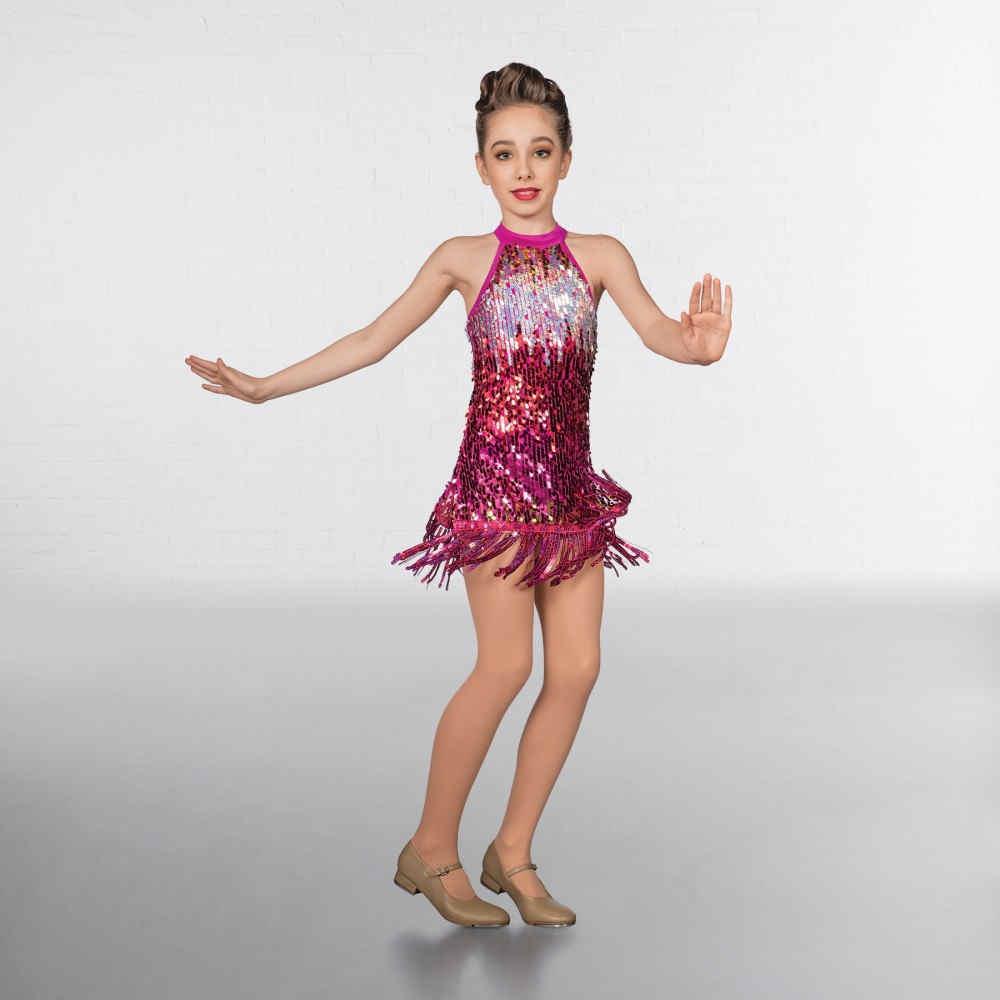 fa2b31cf0b2c5 Childrens Ombré Sequin Fringe Glitz Mini Dress | The Dancers Shop UK