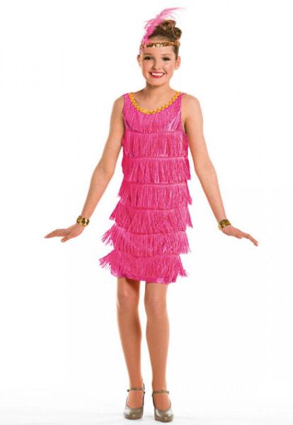 Pink Gatsby Style Flapper Dress Charleston Dance Costume