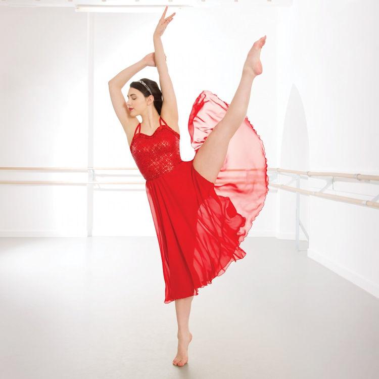 a17fce7b8 Childrens 1st Position Long Sequin Red Lyrical Dress
