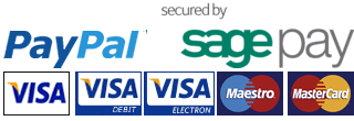 Pay for your dancewear securly with SagePay or PayPal