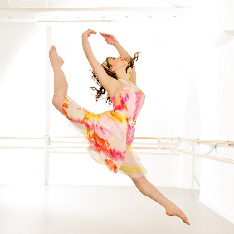 1st Position Floral Print Asymmetrical Lyrical Dress / Dance ...